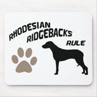 Rhodesian Ridgebacks Rule Mouse Pad