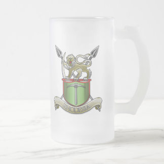 Rhodesian Security Forces Frosted Glass Beer Mug