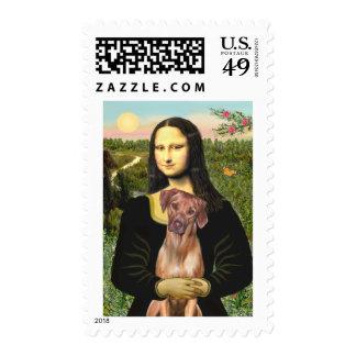 RhodesianRidgeback 1 - Mona Lisa Stamp