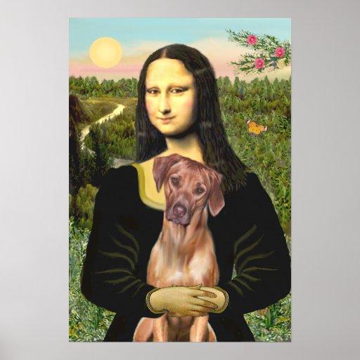 RhodesianRidgeback 1 - Mona Lisa Poster
