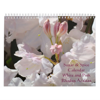 Rhodies Azaleas Calendar Sugar & Spice Pink White