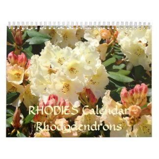 RHODIES Calendar Rhododendrons 2010 Gift Calendar