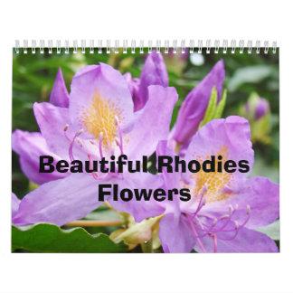 Rhodies hermoso florece la naturaleza del calendar