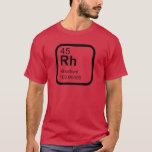 Rhodium - Periodic Table science design T-Shirt