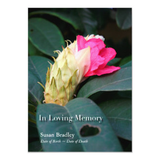 Rhododendron 1 Celebration of Life Invitation