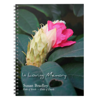 Rhododendron 2 - Celebration of Life Guest Book Spiral Note Book