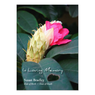 Rhododendron 2 - Celebration of Life Invitation
