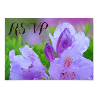 "Rhododendron After Rain Wedding Engagement RSVP 3.5"" X 5"" Invitation Card"