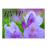 """Rhododendron After Rain Wedding Engagement RSVP 3.5"""" X 5"""" Invitation Card"""