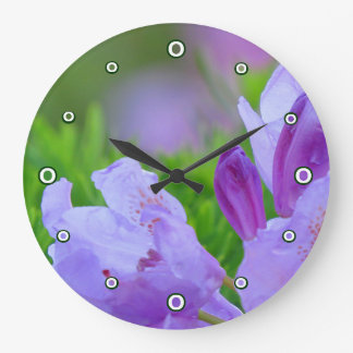 Rhododendron After the Rain Large Clock