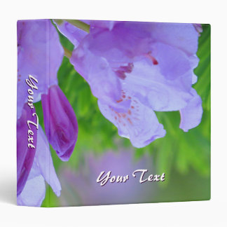 Rhododendron After the Rain Personalized Binder