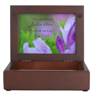 Rhododendron After the Rain Personalized Memory Box