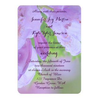 Rhododendron After the Rain Wedding Card