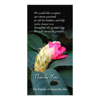 Rhododendron Blossom Sympathy Thank You Photo Card