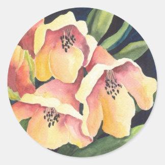 Rhododendron Classic Round Sticker