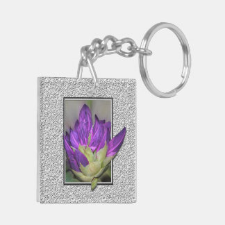 Rhododendron Double-Sided Square Acrylic Keychain