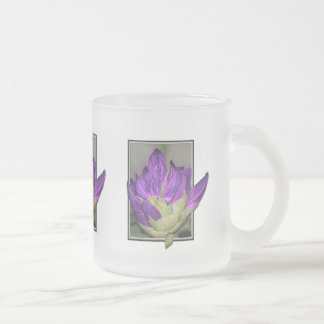 Rhododendron Frosted Glass Coffee Mug