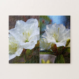 Rhododendron Hybrids - 'April Snow' Collage Jigsaw Puzzle