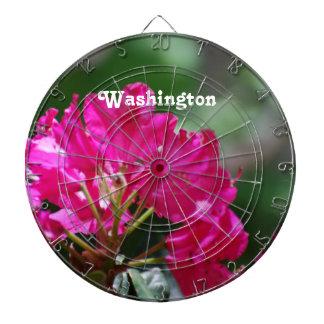 Rhododendron in Washington Dartboard With Darts