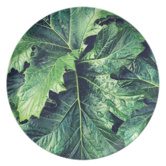 Rhododendron Leaves Melamine Plate