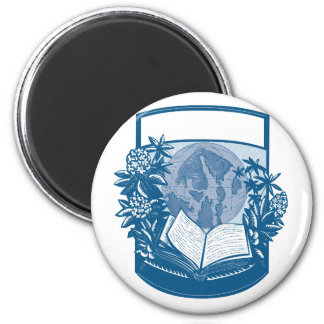 Rhododendron Orcas Island Book Woodcut Magnet