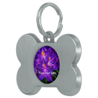 Rhododendron Pet Name Tag