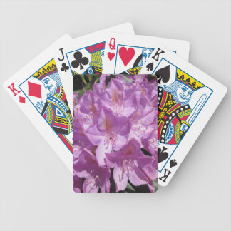 Rhododendron Purple Close Bicycle Playing Cards