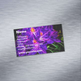 Rhododendron Topaz Magnetic Business Card