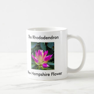 RhododendronFlower, New Hampshire Flower, The R... Classic White Coffee Mug