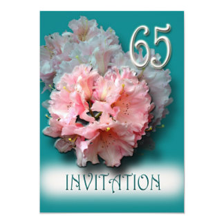 Rhododendrons 65th Birthday Party Invitation