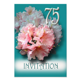 Rhododendrons 75th Birthday Party Invitation