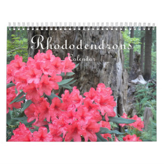 Rhododendrons Floral Photo Calendar