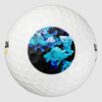 Rhododendrons in Blue, Floral, Blue Flowers Golf Balls