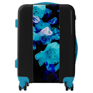 Rhododendrons in Blue Floral Design Luggage