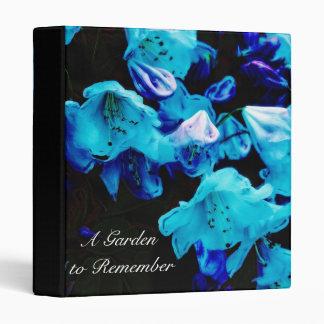 Rhododendrons in Blue, Floral  Photo Album Vinyl Binder