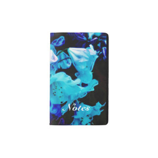 Rhododendrons in Blue Pocket Moleskine Notebook Cover With Notebook
