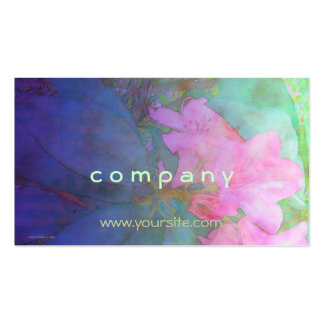 Rhododendrons Pink & Bue Watercolor Double-Sided Standard Business Cards (Pack Of 100)