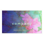 Rhododendrons Pink & Bue Watercolor Business Cards