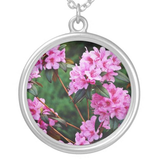 Rhododendrons, Quebec, Canada Yellow flowers Necklace