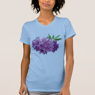 Rhododendrons With Leaves Ladies T-Shirt