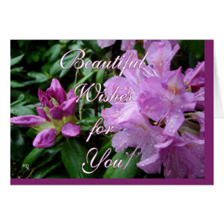 Rhododrendron Wishes-customize Greeting Card