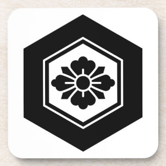 Rhombic flower with Swords in tortoiseshell Coaster