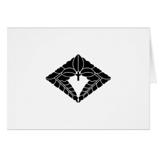 Rhombic hanging wisteria card