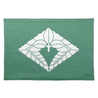 Rhombic hanging wisteria cloth placemat