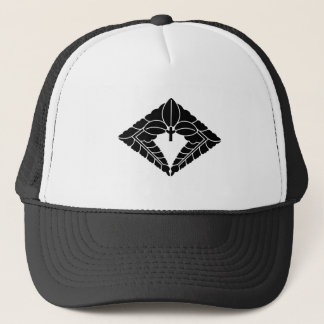 Rhombic hanging wisteria trucker hat