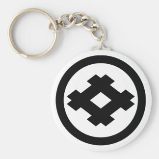 Rhombic well frame in circle keychain