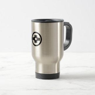 Rhombic well frame in circle travel mug