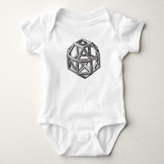 Rhombicuboctahedron, Leonardo Da Vinci Baby Bodysuit