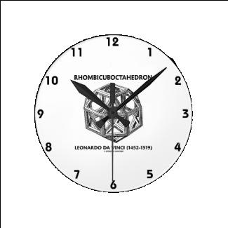 Rhombicuboctahedron (Leonardo da Vinci) Round Wallclock