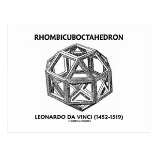 Rhombicuboctahedron (Leonardo da Vinci) Postcard